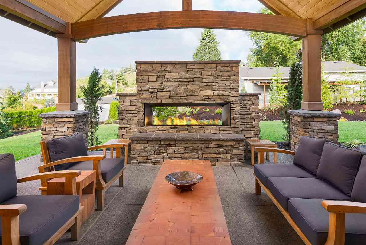 Outdoor complete fireplace new jersey